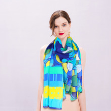100% pure silk Beach scarf, Lowest Price Women Chiffon Fashion big Silk Scarves, Luxury Brand lady Girl soft scarf