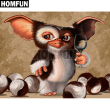 "HOMFUN Full Square/Round Drill 5D DIY Diamond Painting ""Big ear monkey"" 3D Embroidery Cross Stitch Mosaic Decor Gift A00339(China)"