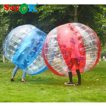 free shipping cheap giant 1.8m(6ft) red air inflatable bubble football bubble soccer bumper 0.7mm tpu ball water gum for sale(China)