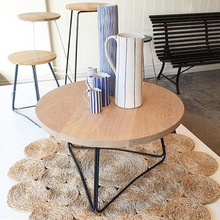 Coffee Tables Living Room Furniture Home Furniture solid wood+steel round coffee tables wholesale 70*45 CM hot new fashion table(China)