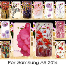 AKABEILA Soft TPU Hard Plastic Painted Phone Cases For Samsung Galaxy A5 2014 A500F A500FQ A500FU A500HQ A500YZ Case Back Covers(China)
