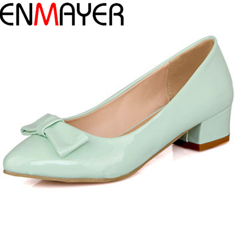 ENMAYER Spring Newest Pointed Toe Fashion Dress Shoes Sexy High Heel Wedding Shoes Womens Pumps Oversized 34-43<br><br>Aliexpress