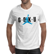 Goku Super Saiyan Air T-shirt Parody Logo Skate Fashion Hip Hop T Shirt Brand Cool Pop Women Men Top(China)