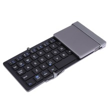 New Arrival Travel Metal Folding Bluetooth 3.0 Keyboard Portable Tablet Bluetooth Keyboard Keypad Android IOS Windows Tablet