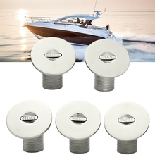 316 Stainless Steel 1-1/2inch Boat Fuel Deck Filler Keyless Cap Marine Angled Fill(China)