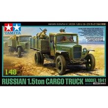 OHS Tamiya 32577 1/48 Russian 1.5ton Cargo Truck 1941 Military AFV Assembly Model Building Kits(China)