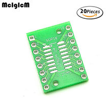 MCIGICM 20PCS TSSOP16 SSOP16 SOP16 SMD to DIP16 IC Adapter Converter Socket Board Module Adapters Plate 0.65mm 1.27mm Integrate(China)