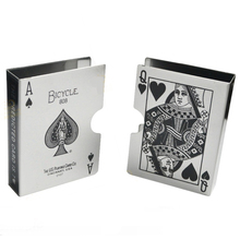 King Magic METAL BICYCLE PLAYING CARD CLIP DECK PROTECTOR PACK BOX CASE TRICK MAGIC PREDICT