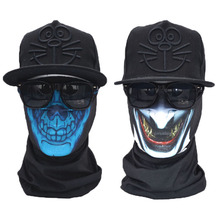 2pcs cheap promotional custom tube skull printed bandana