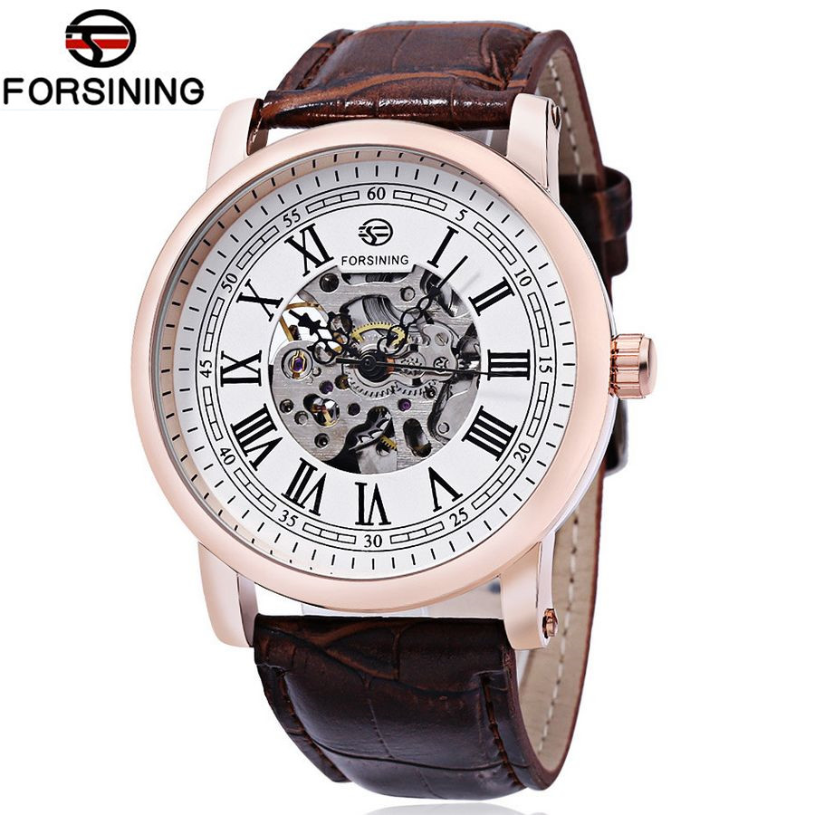 oman Number Mens Skeleton WristWatch Antique Skeleton Steampunk Casual Automatic Skeleton Mechanical Watches MaleFree Ship<br><br>Aliexpress