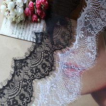 Orange pink  Black white eyelash lace fabric diy clothing accessories Lace trim width 8cm RS1041