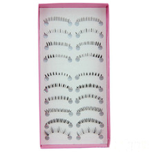 10 Pairs Different Style Lower Under Bottom False Eyelashes Black Fake Eye Lashes Extension Makeup Tools