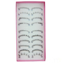 10 Pairs Different Style Lower Under Bottom False Eyelashes Black Fake Eye Lashes Extension Makeup Tools(China)