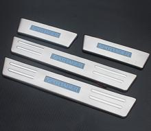With Blue LED High quality stainless steel Scuff Plate/Door Sill For 2011-2012 KIA Sportager