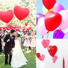 10pcs/lot 10 Inch Pink Love Heart Pearl Latex Balloons Float Inflatable Wedding Christmas Birthday Party Decoration Air Balloons