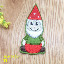 New arrival 10 pcs little Christmas man embroidered patch iron on Motif Applique TS Fabric cloth embroidery accessory