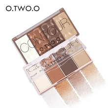 O.TWO.O 4 Colors Waterproof Grooming Powder with Pressed Blush Powder Contour Bronzer Blusher Highlighter Shading Face Makeup(China)