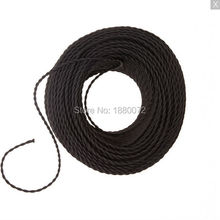 Black Color 2 x 0.75mm2 Vintage Edison style Twisted Cable Twisted Electrical Wire Cloth Covered lamp Wire