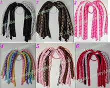 free shipping 20 different color korker ponytail holders to mix  100pcs korker ponys bows colorful