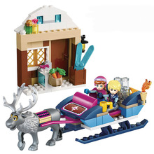 41066 Princess Anna and Kristoff Sleigh Building Brick Blocks Sets Children Gift Kids toys Compatible with Lepine Friends(China)