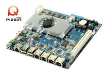 Atom CPU linux embedded fanless board Multi-user tablet mainboard Support 4*1000M RJ45 LAN port