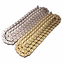 DK 98L Durable Silver Gold Single Speed Bicycle Chains 1 Speed Freestyle Fixed Gear Bike Chain Links BMX Bike Chain