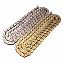 DK 98L Durable Silver Gold Single Speed Bicycle Chains 1 Speed Freestyle Fixed Gear Bike Chain Links BMX Bike Chain(China)