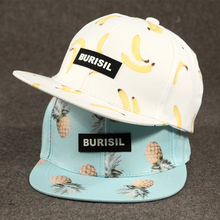 2017 Fashion New Fruit Pattern Adult/Kids Snapback Caps Summer Hat For Children Baseball Caps For Boys Girls Sun Hip Hop Hat(China)