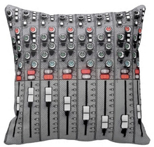 Hot Selling Personalized Studio Mixer Sound Board Stylish Design Luxury Printed on Square Zippered Throw Pillowcase(China)