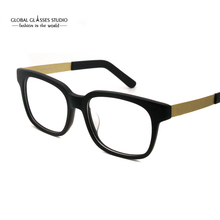 Classic Square Lens Eyeglasses Fashion Sport Acetate Glasses Frame Crystal / Matt Black / Gray Color Teenager Spectacle RFG7004(China)