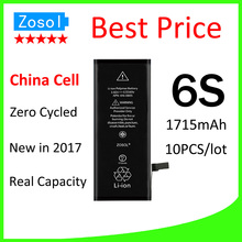 10pcs/lot Hot selling OEM 0 zero cycle Full Capacity Battery for iPhone 6S 1715mAh 3.82V Replacement Repair Parts(China)