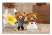 Wedding gift pen drive Cartoon Wedding Bear 2GB/4GB/8GB USB Flash Drive Memory Stick USB2.0 for Lover Gift Free shipping