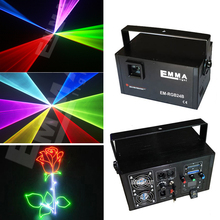DMX+ILDA+SD+2D+3D Multi color 1w 1.5W rgb laser light/dj lights/stage light/ laser light/laser projector(China)