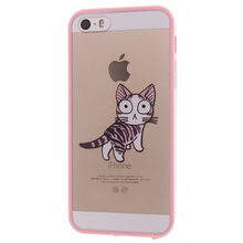 Phone Cases for iPhone 5S case Clear Soft Silicone Cute Pink Better cover for Apple SE i5 i6 Plus Coque Brand Super Fashion 2017
