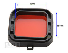 1PCS For Hero 4 Hero 3+ Mini Camcorder Accessories Polarizer Red Color Underwater Dive Lens Filter(China)
