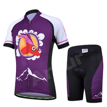 Children's Cycling Jersey Sets T-Shirt and Cycling Bib Shorts MTB Bike Road Bicycle Clothing Kids Girls Riding Ropa Ciclismo