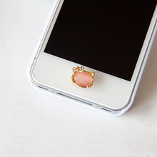 Hot Sales Beautiful Metal Diamond Phone Home Button Sticker Keyboard For iPhone 4 5 5s SE 6 6s plus