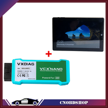 2017 VXDIAG VCX NANO for LandRover/ Jaguar 2 in 1 WIFI Auto Diagnostic Scan Tool 10inc Tablet Full System Diagnostic Scan tool(China)