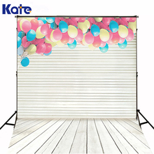 10x20FT Kate Digital Printing Backgrounds Wood Strip Flooring Wall Gap Balloons Photography Backdrops Wedding Backgrounds