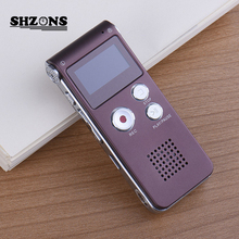 8GB Rechargeable Brand Mini USB Flash Digital Audio Sound Voice Recorder 650Hr Dictaphone Dictaphone MP3 Player Coffeee gravador