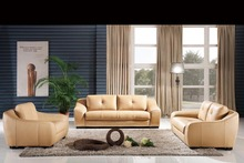 Classic 1+2+3 latest Modern Desgin High Back luxury Top Grain Cattle Leather sofas living room furniture 8266