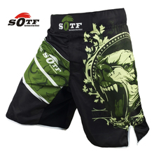 SOFT Green Bear Fitness breathable mma fighting workout shorts Tiger muay thai boxing shorts kickboxing shorts pretorian yokkao