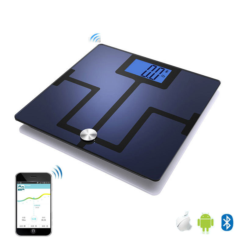 Smart Perfession Bathroom Floor Body Fat Scale Household Electronic Digital Bluetooth Weight Health Support APP LCD  -  JusendaHome Store store
