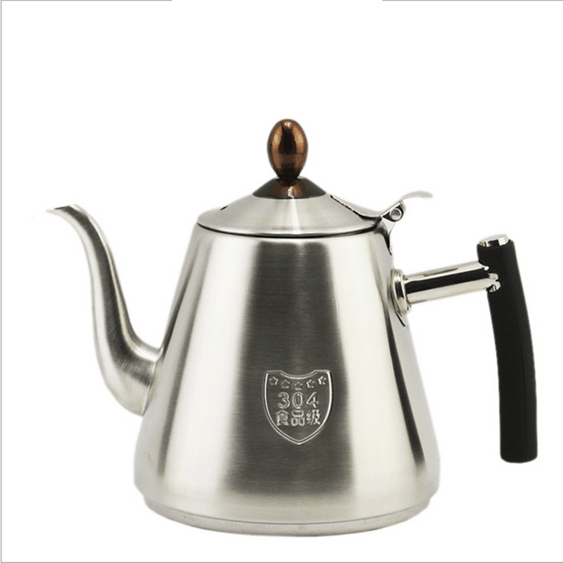 1.2L 304 Stainless Steel High Quality Flat Tea Pot Coffe Drip Kettle Induction Cooker Water Kettle Hot Water For Barista<br><br>Aliexpress