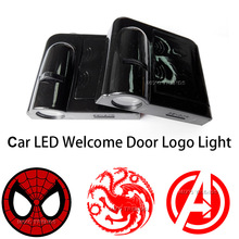 2 Siperman Avengers Game of Thrones WIRELESS LED CAR DOOR WELCOME LIGHT 2 LED Lights