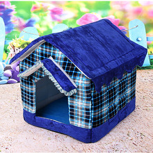 New Design Striped Removable Cover cotton warm Pet dog house bed Fashion Autumn Winter cat bed mat for small dogs goods for pets(China)