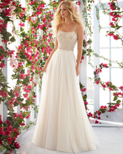 Ivory Chiffon Beading Flower  Bodice Sheer Nude Net Soft A-Line Wedding Dress 2017 Strapless Ruched Skirt Count Train Plus Size