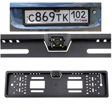 Rear View Camera For European License Plate Frame Auto Car Reverse Backup Parking Rearview Camera parking assistance system(China)