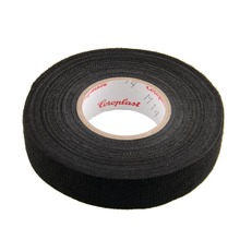 Hot 1x Adhesive 19mmx15M Cloth Fabric Tape Cable Looms Wiring Harness For Car Heat-resistant Wiring Harness Tape Car-styling