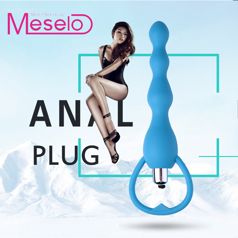 Anal Vibrator Sex Toy Waterproof Silicone Anal Butt Plug Adult Erotic Product Anal Beads Vibrating Dildo Massager Women